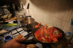 Lobster cooking on Christmas DAy