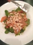 smoked salmon salad almonds