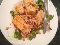tofu salad with almonds