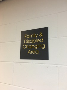 family changing area