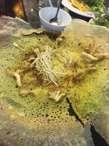 vietnam ho chi minh city vietnam cookery PANCAKE mushrooms