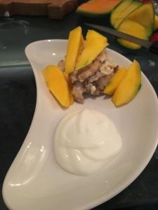 pancake disaster healthy recipe tropical mango