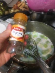 schwartz nutmeg roux sauce with leeks white sauce