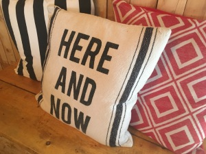 here and now mindfulness cushion
