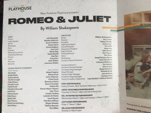 william shakespeare = romeo and juliet west yorkshire playhouse