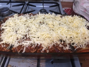 dolmio bolognese lasagne cheese parsley home made recipe mama mei grated cheese