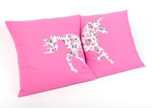 hand home made unicorn cushions