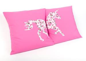 hand home made unicorn cushions